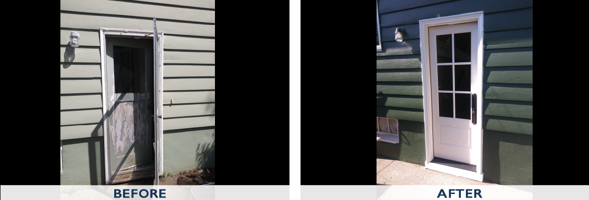 Fiberglass Therma Tru Door before and after