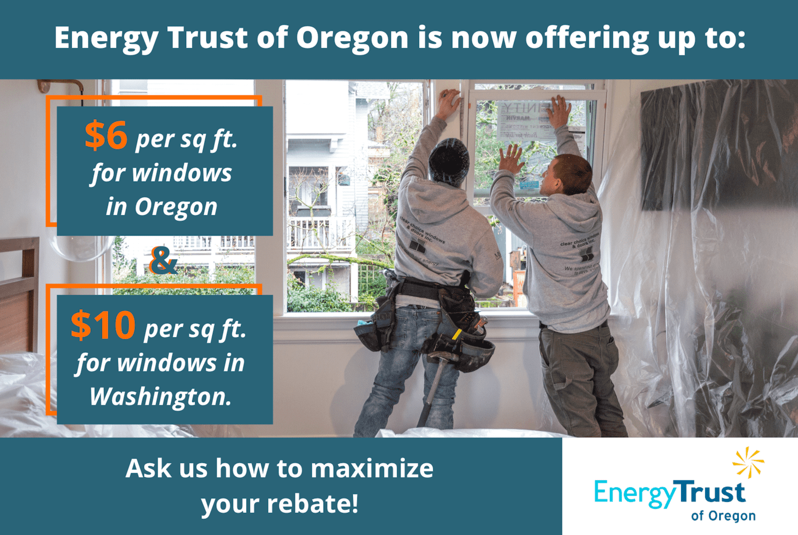 energy trust of oregon rebate clear choice construction